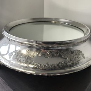 "1930`s Silver Plated Wedding Cake Stand 11"" Lancashire Catering Hire"