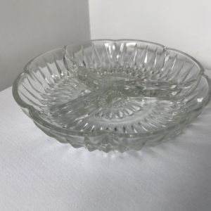 Glass Partition Bowls for nuts, olives etc (Vintage)