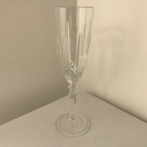 Lead Crystal Champagne Flute Hire