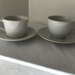 white cup and saucer hire