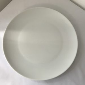 white dinner coupe plate hire