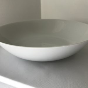 white salad bowl hire