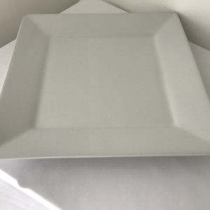 white square plate hire